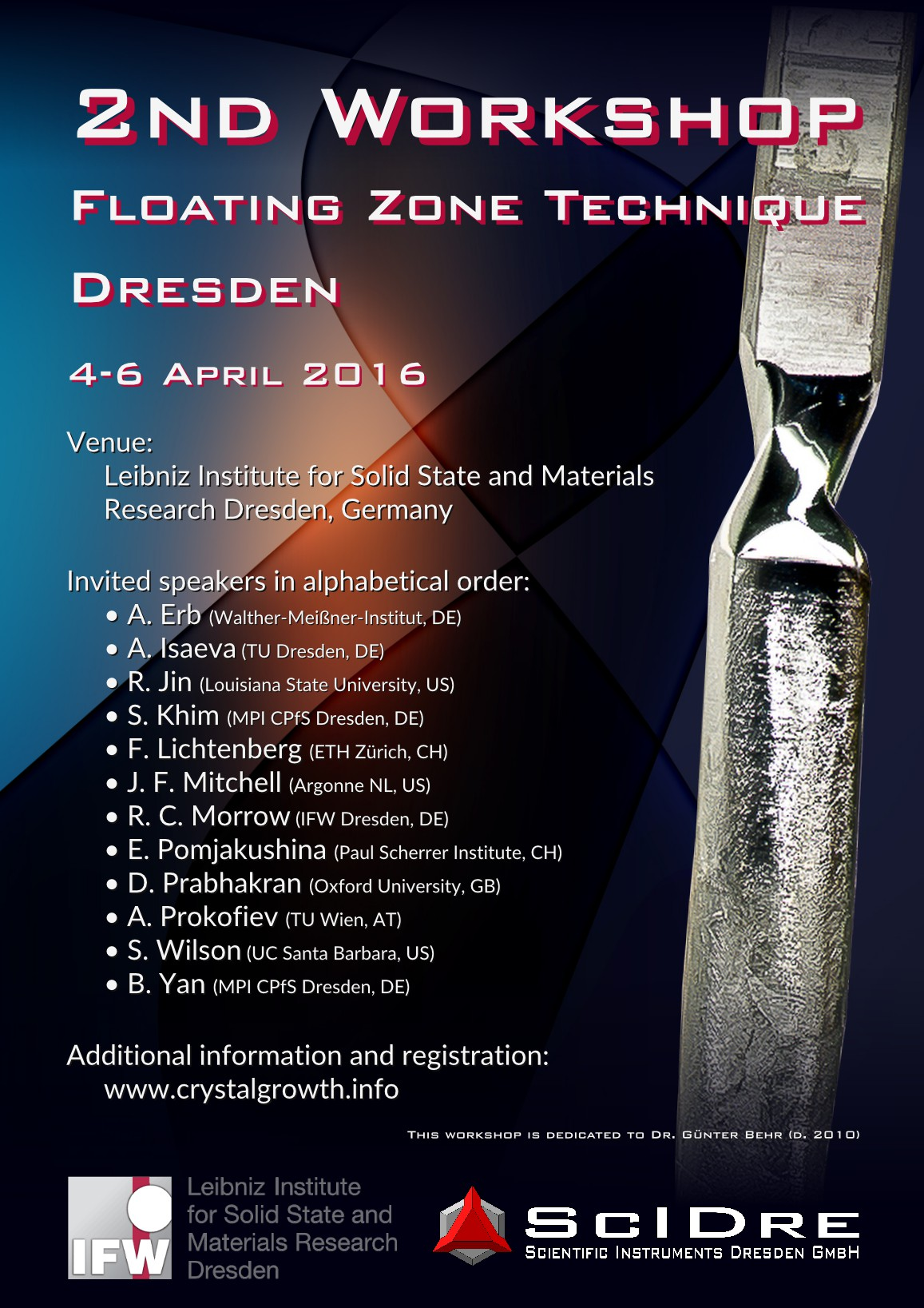 2nd Floating Zone Workshop